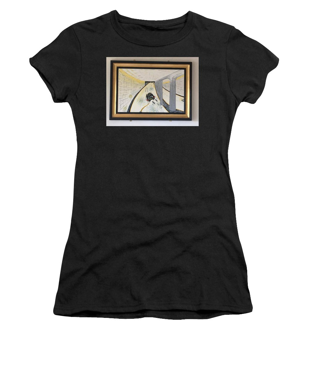 Historical Paintings Women's T-Shirt featuring the painting The Last Night 0f Princess Diana by MERLIN Vernon