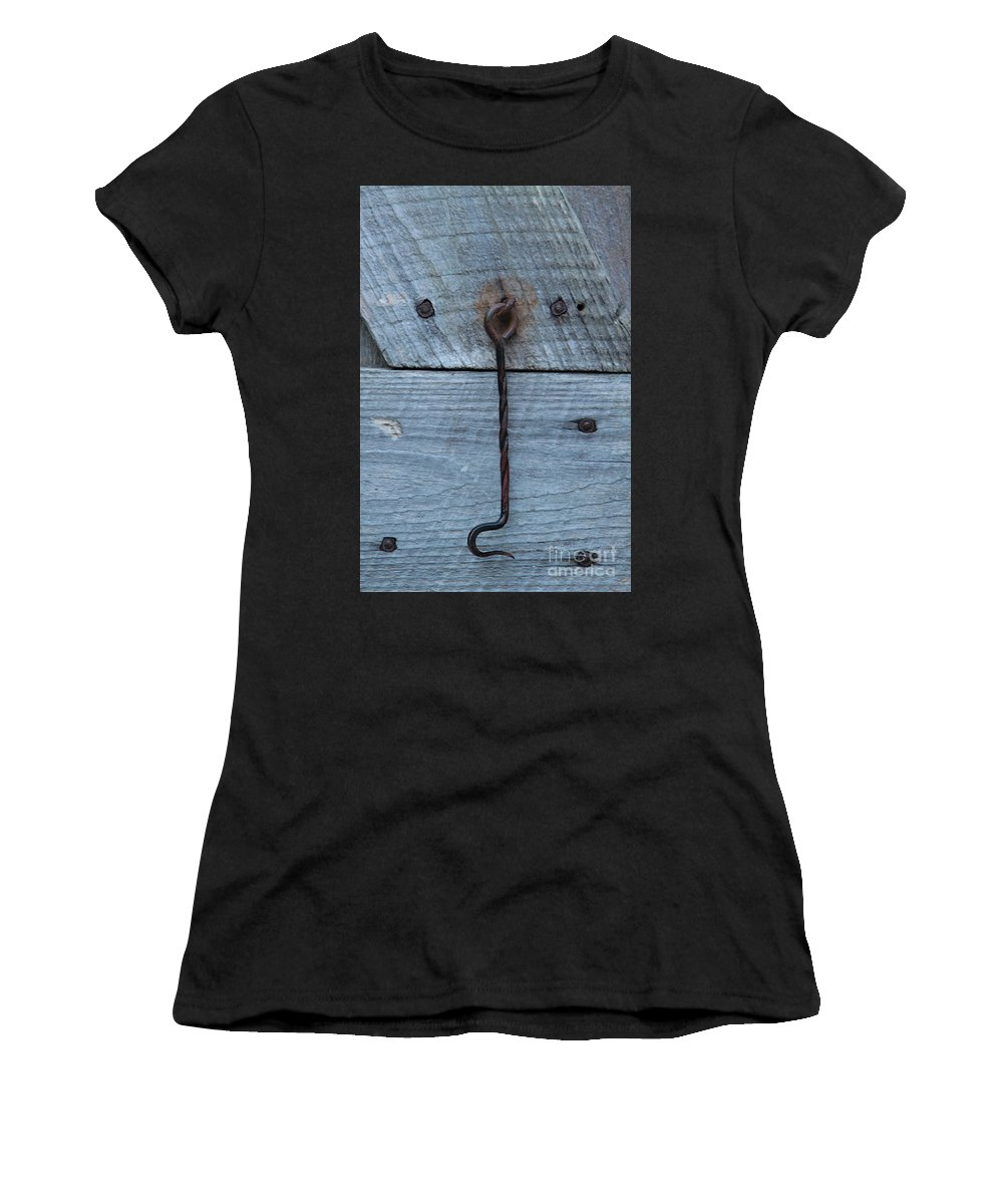 Swing Lock Women's T-Shirt (Athletic Fit) featuring the photograph The Latch by Robert Pearson