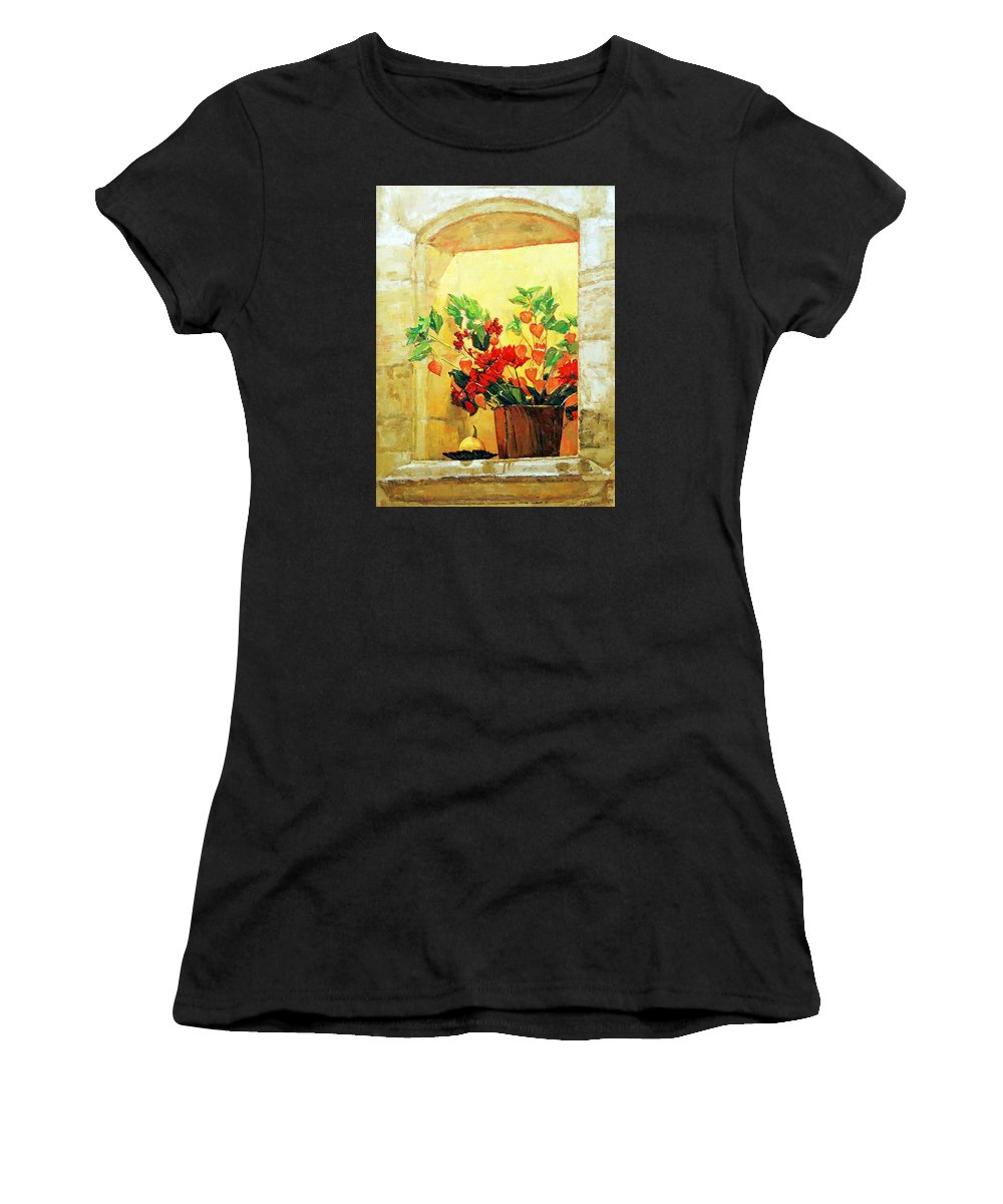 Still Life Women's T-Shirt featuring the painting The Light by Iliyan Bozhanov