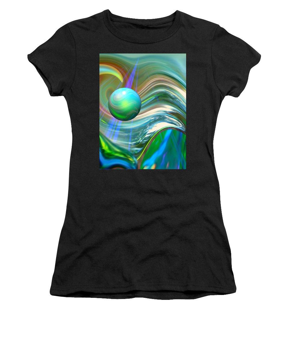Elaine Bawden Women's T-Shirt featuring the digital art The Light Inside by Elaine Bawden