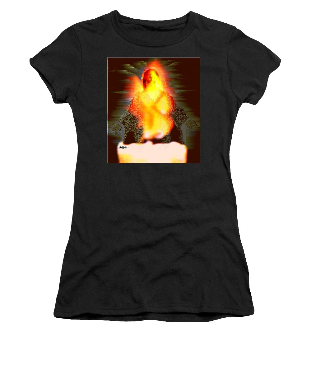 The Light Of The World Women's T-Shirt (Athletic Fit) featuring the digital art The Light Of The World by Seth Weaver