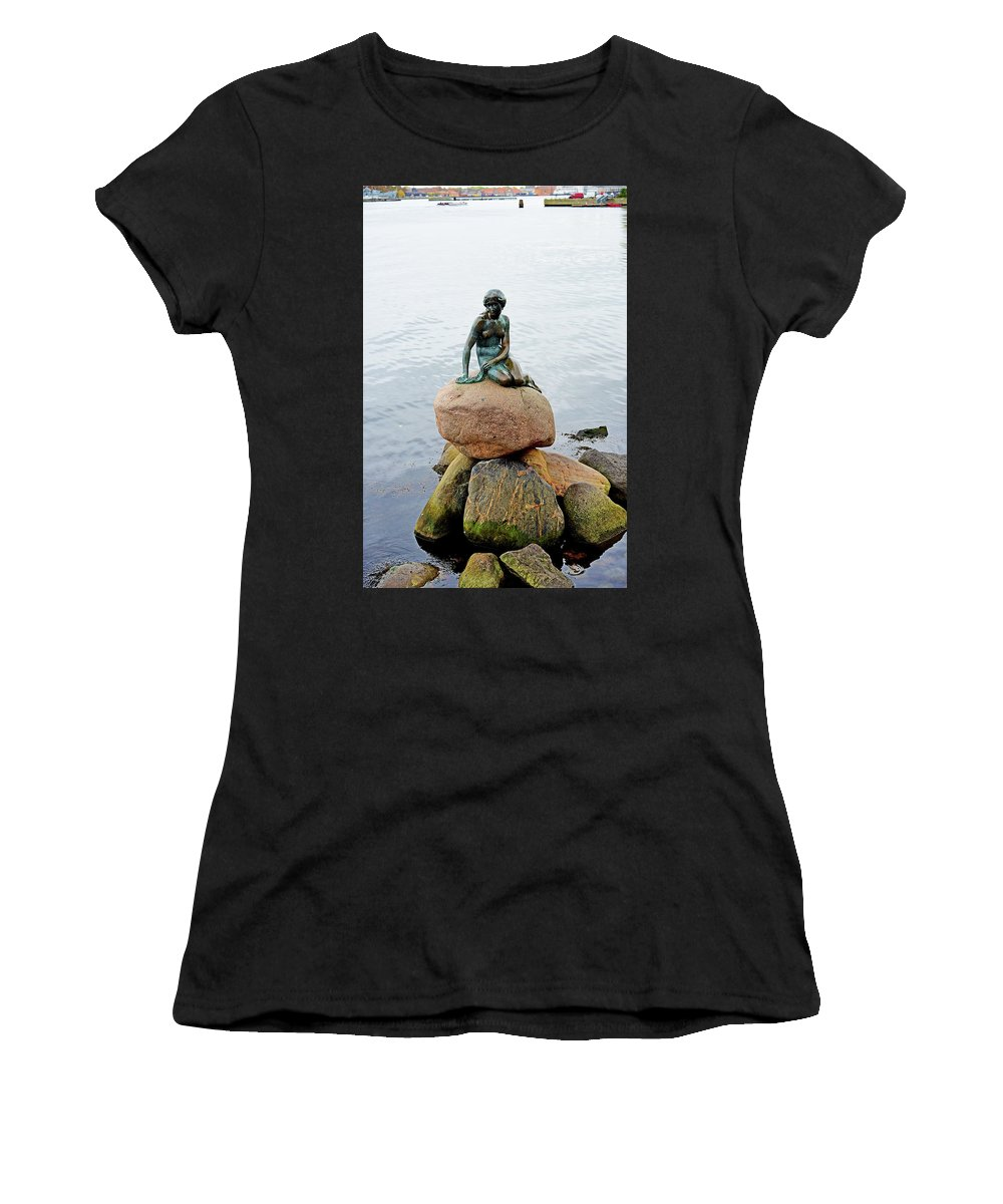 Little Women's T-Shirt (Athletic Fit) featuring the photograph The Little Mermaid by Evan Peller