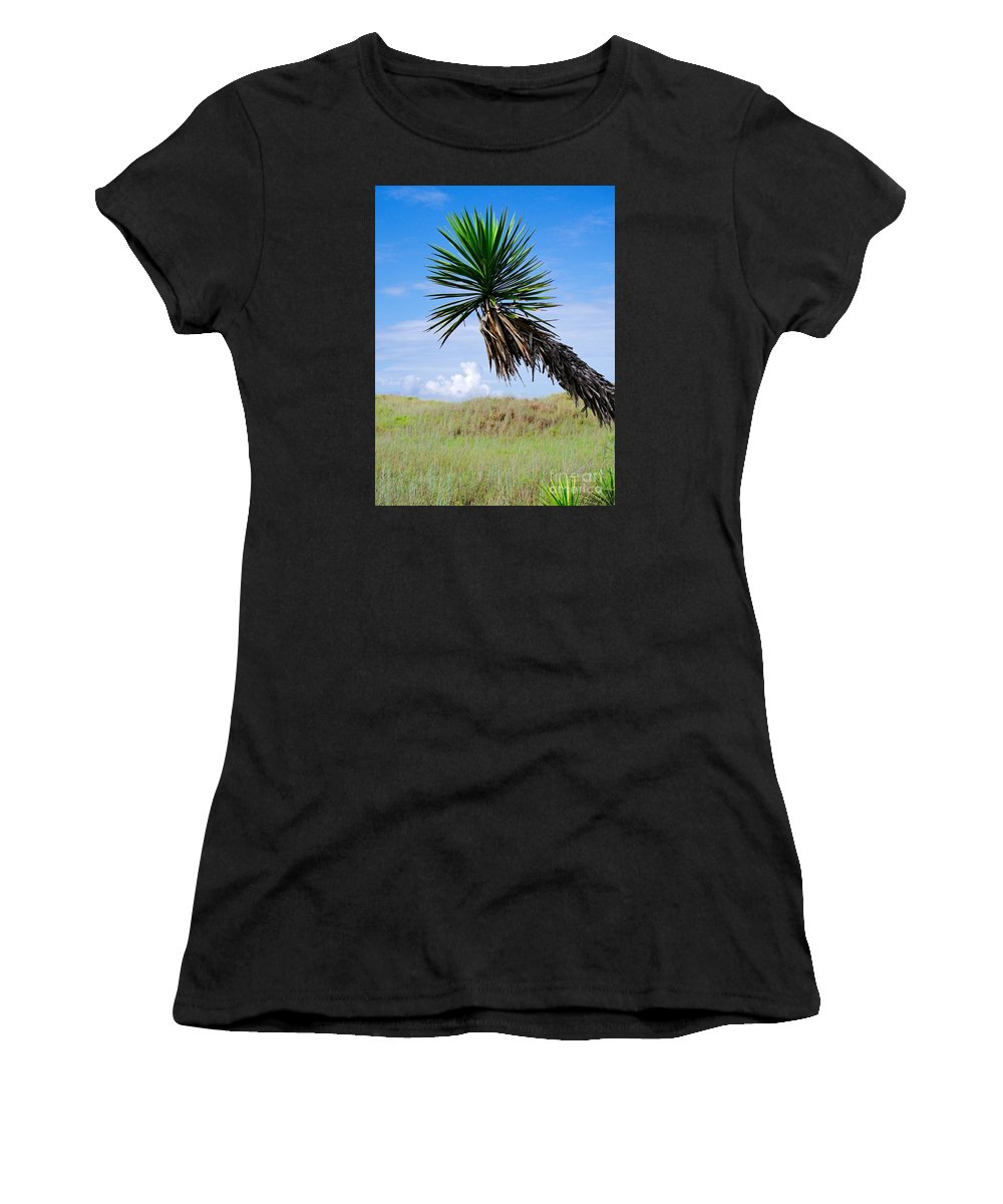 Yucca Women's T-Shirt (Athletic Fit) featuring the photograph The Lone Yucca by Gary Richards