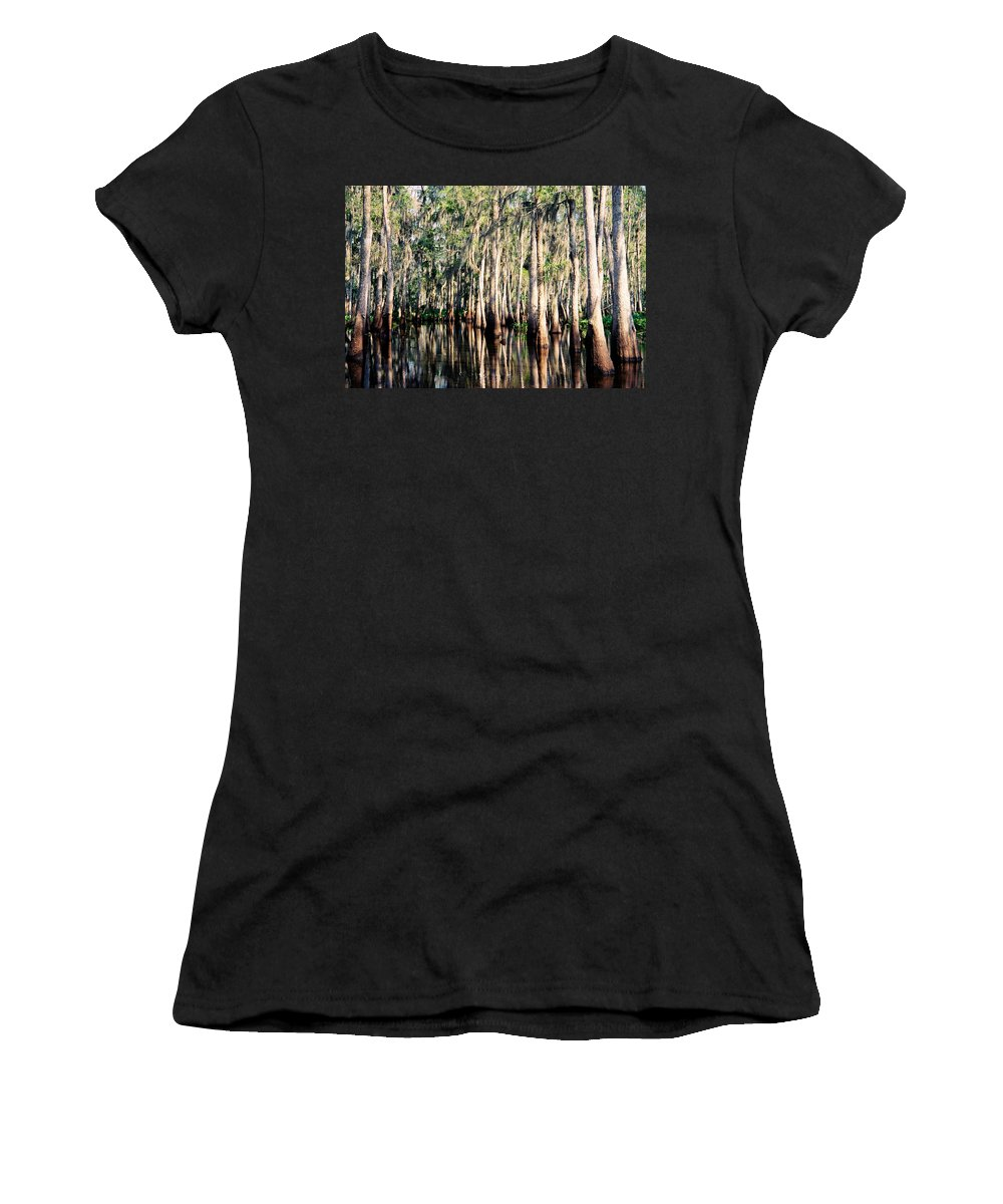 Bayou Women's T-Shirt (Athletic Fit) featuring the photograph The Louisiana Bayou by Dave Sribnik