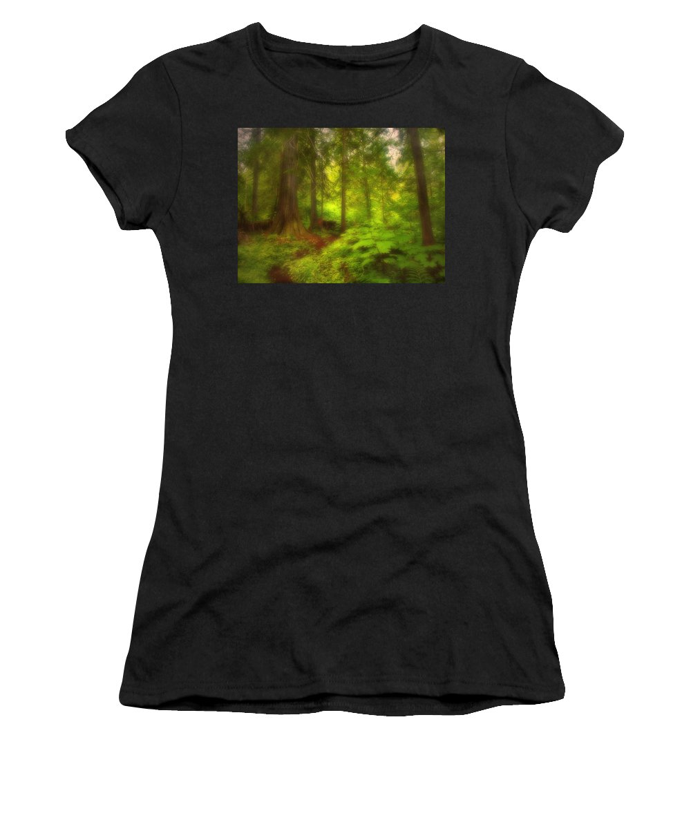 Forest Women's T-Shirt (Athletic Fit) featuring the photograph The Magic Forest by Tara Turner