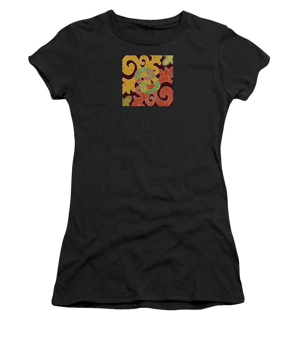 Abstract Women's T-Shirt (Athletic Fit) featuring the painting The Marvel by Louise Hankes