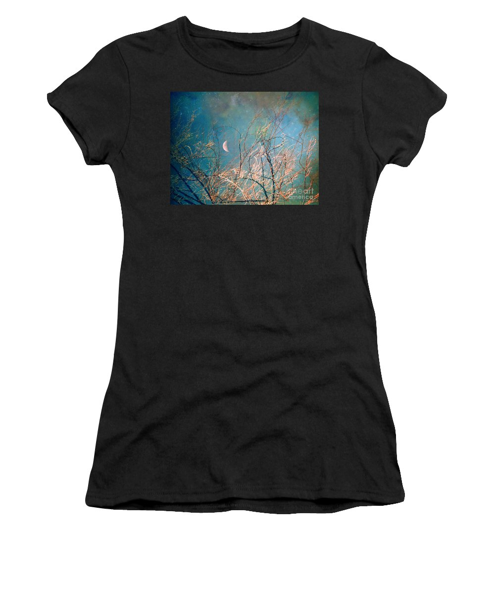 Moon Women's T-Shirt (Athletic Fit) featuring the photograph The Messy House Of The Moon by Tara Turner