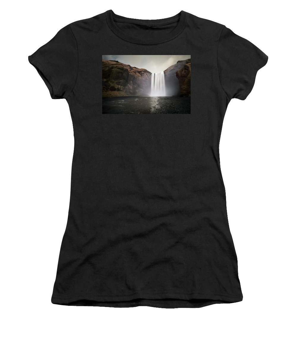 Iceland Women's T-Shirt featuring the photograph The Mighty Skogafoss by Chris Frost