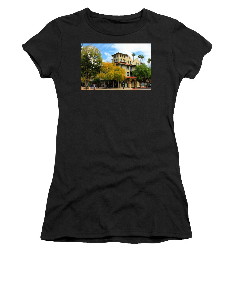 Adobe Women's T-Shirt (Athletic Fit) featuring the photograph The Mission by James Eddy