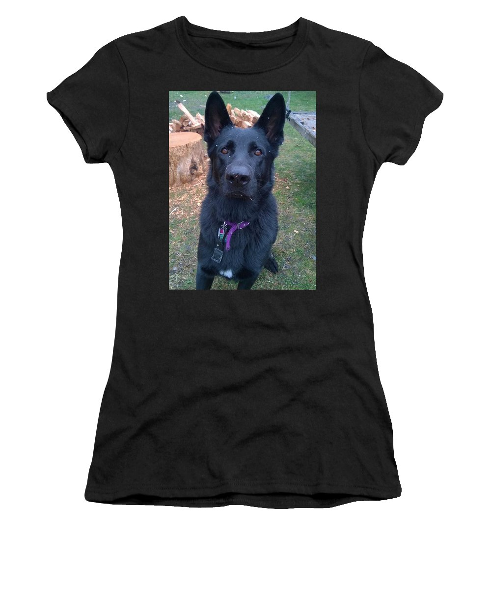 Dog Women's T-Shirt (Athletic Fit) featuring the photograph The Mooser by Raven Rugh