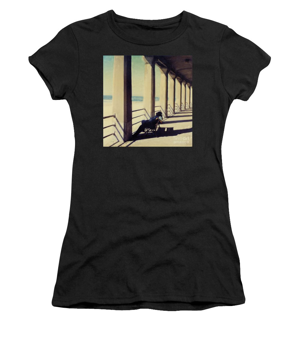 Seashore Women's T-Shirt featuring the photograph The Nap by Keith Dillon