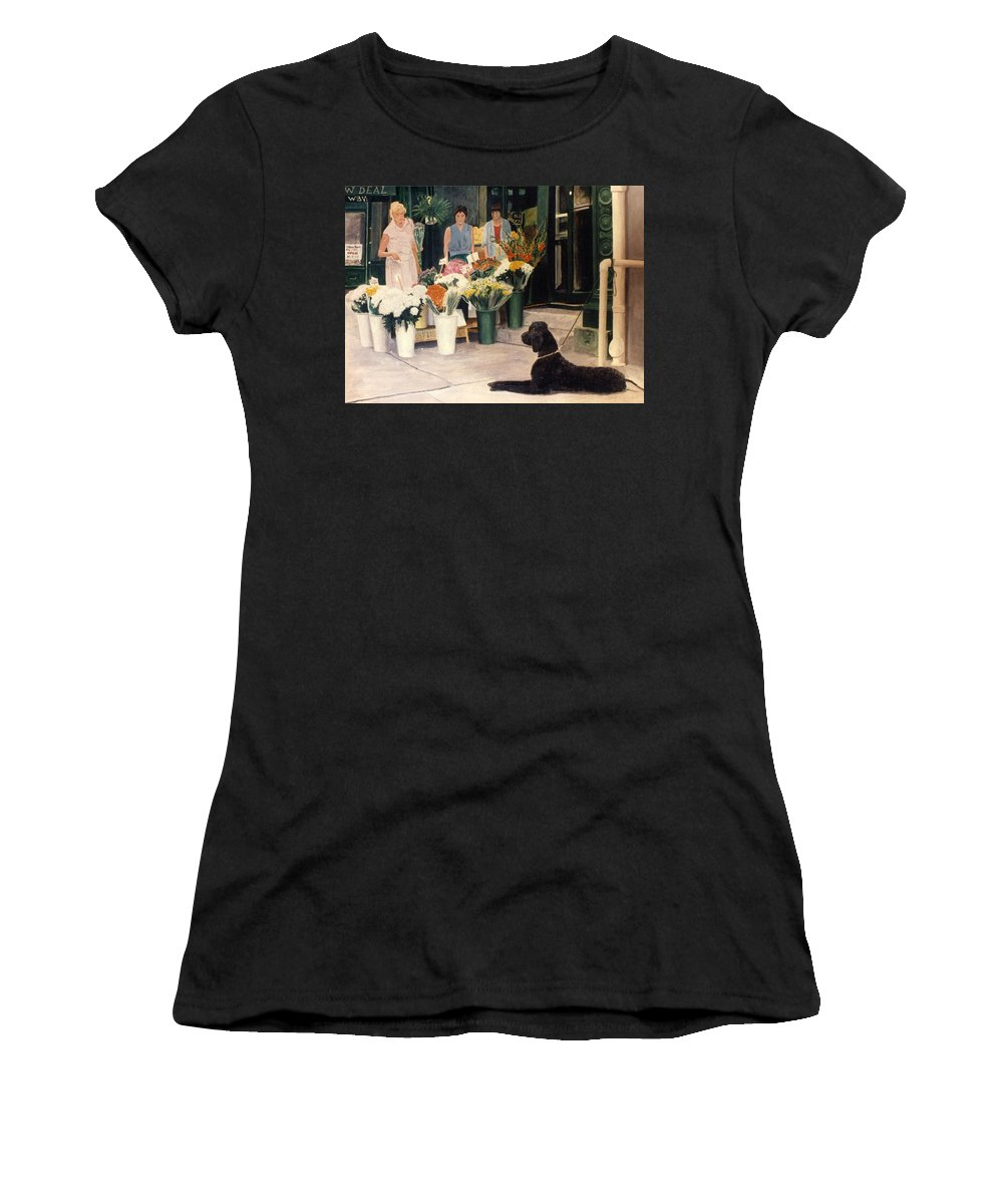 Mums Women's T-Shirt (Athletic Fit) featuring the painting The New Deal by Steve Karol