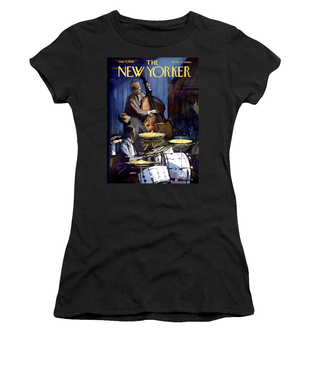 Concert Women's T-Shirt featuring the painting New Yorker January 4th, 1958 by Arthur Getz