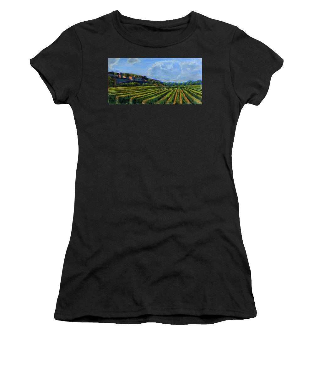 Vineyard Women's T-Shirt (Athletic Fit) featuring the painting The Noble Endeavor by David Zimmerman