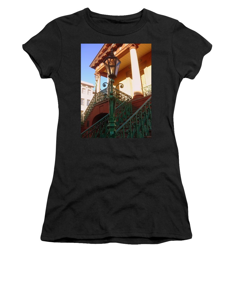 Photography Women's T-Shirt (Athletic Fit) featuring the photograph The Old City Market In Charleston Sc by Susanne Van Hulst