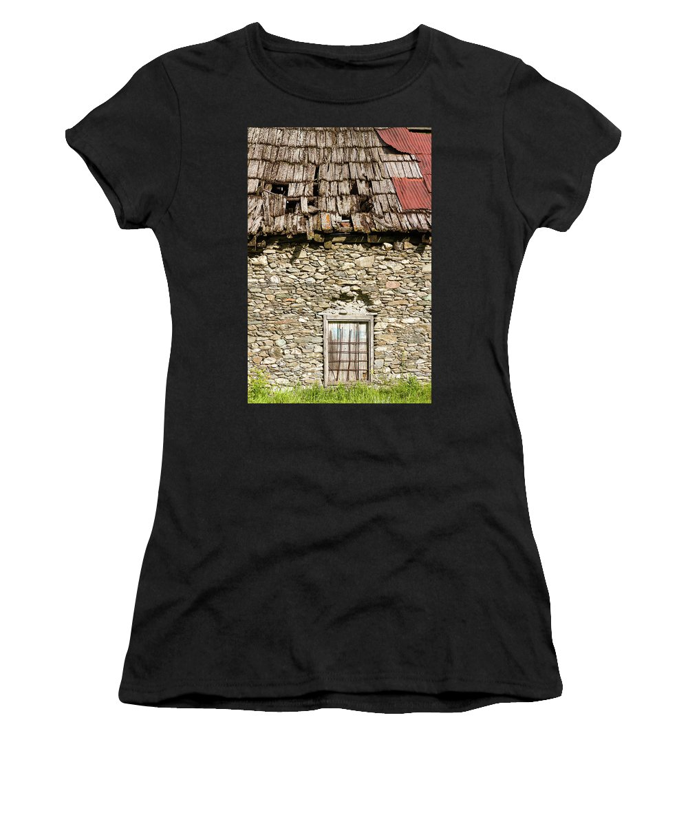 House Women's T-Shirt (Athletic Fit) featuring the photograph The Old House by Paul MAURICE