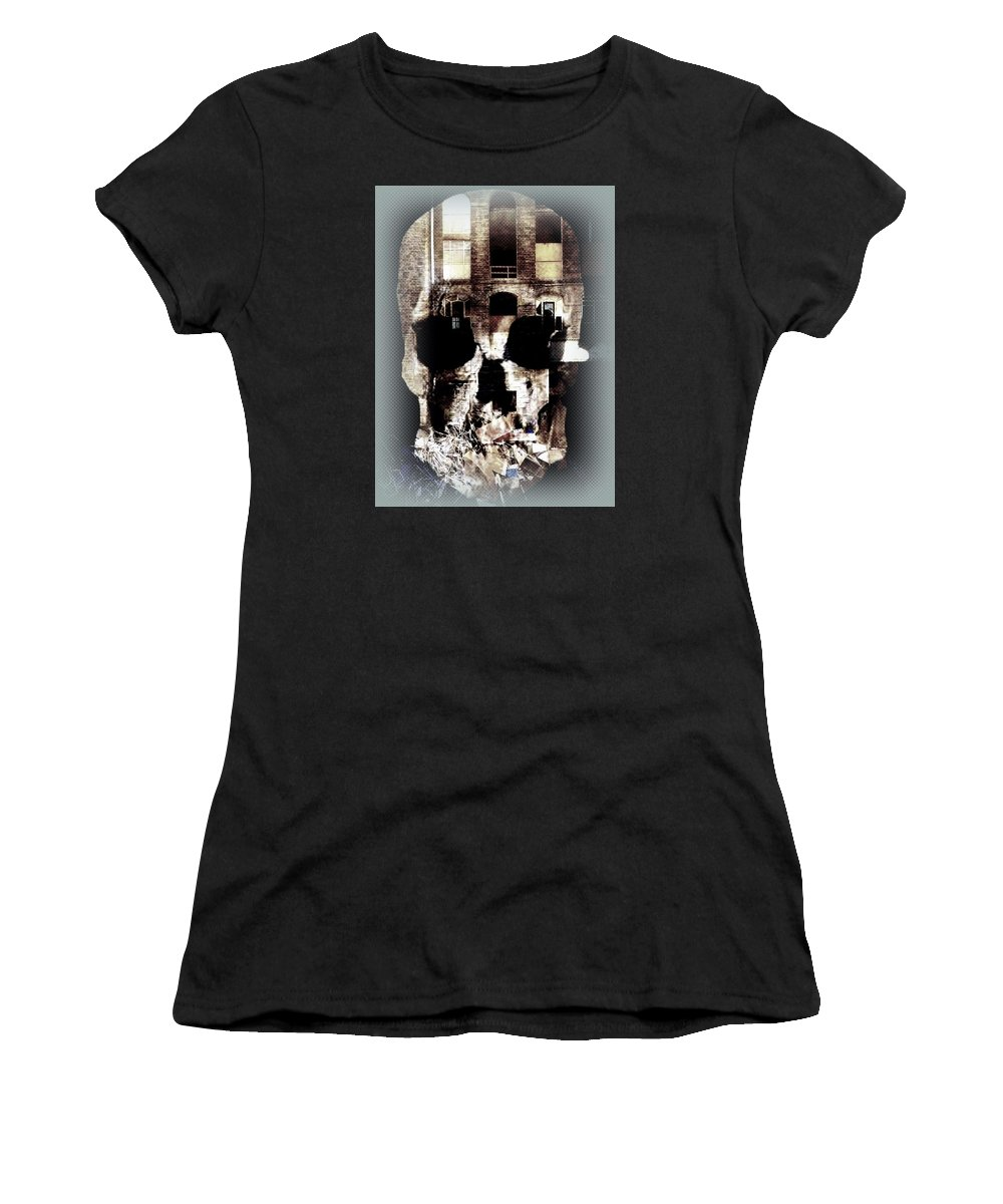 Skull Women's T-Shirt (Athletic Fit) featuring the photograph The Old Mill by Paul Edmondson