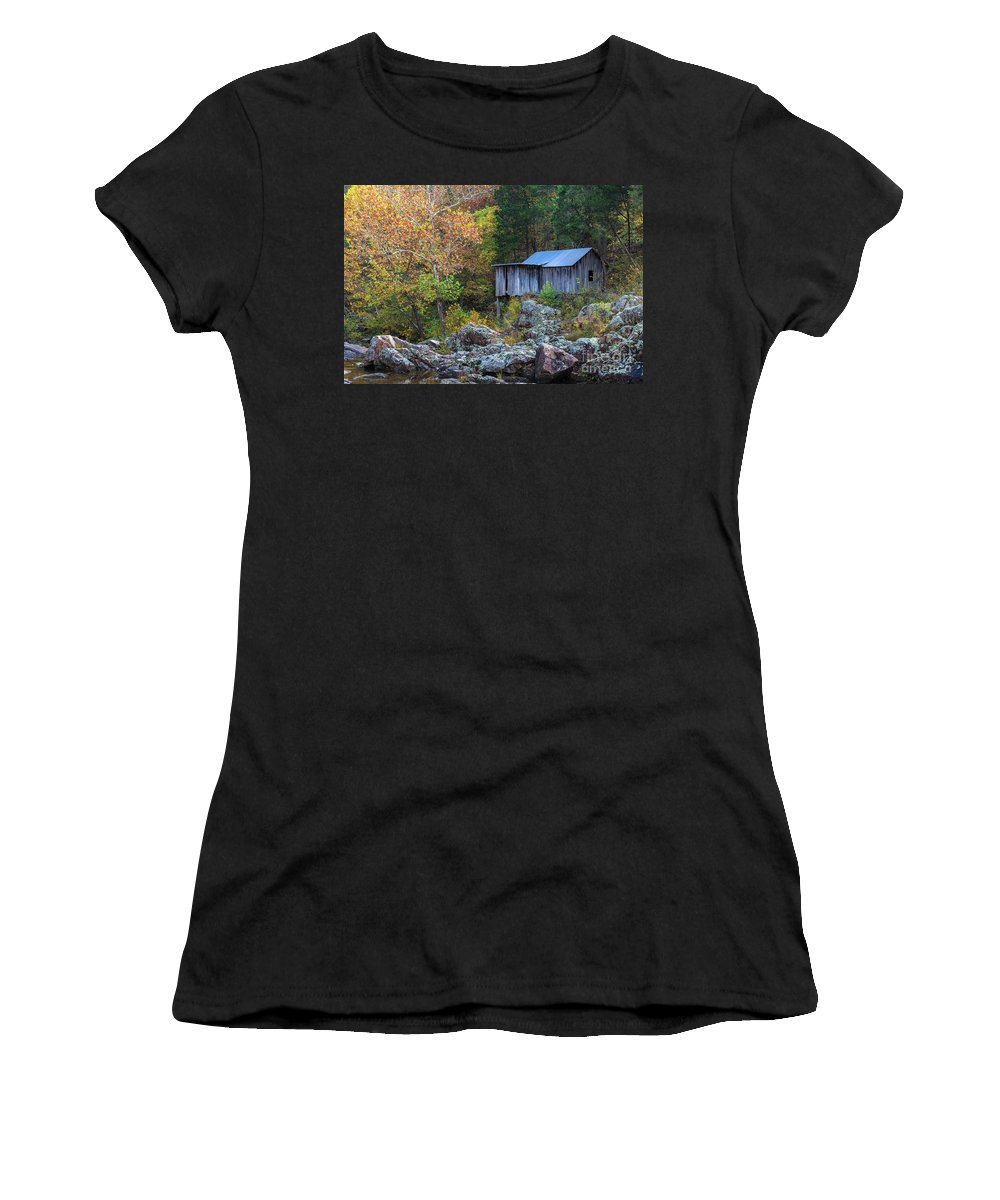Mill Women's T-Shirt (Athletic Fit) featuring the photograph The Old Mill by Terri Morris