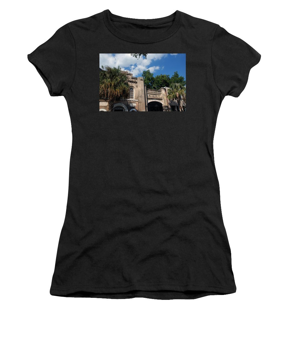 Photography Women's T-Shirt (Athletic Fit) featuring the photograph The Old Slave Market Museum In Charleston by Susanne Van Hulst