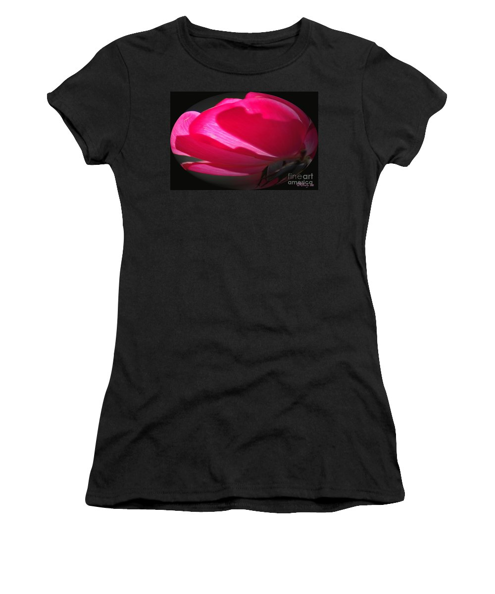 Rose Women's T-Shirt (Athletic Fit) featuring the photograph The Oval Rose by Donna Bentley