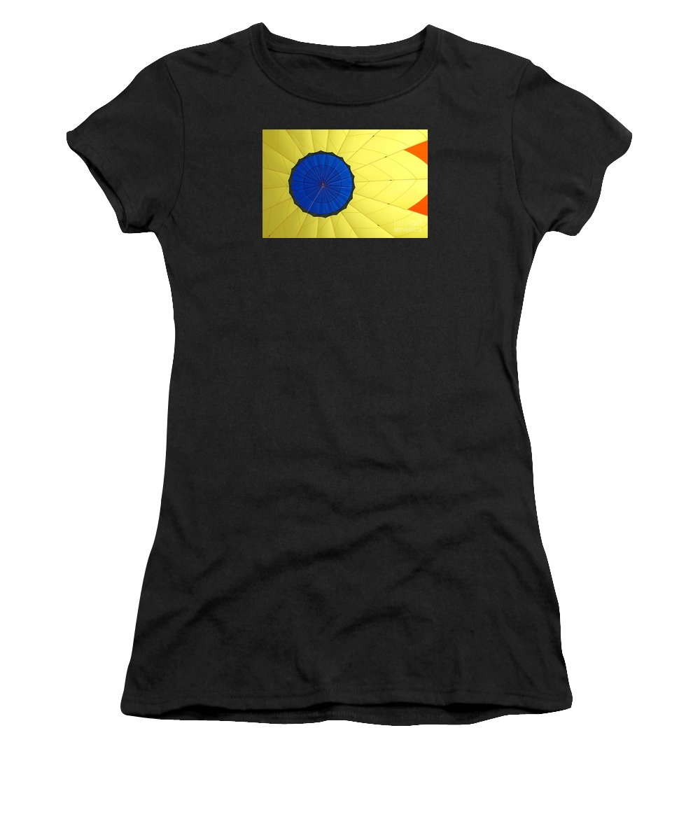 Balloon Women's T-Shirt (Athletic Fit) featuring the photograph The Parachute by Nick Boren