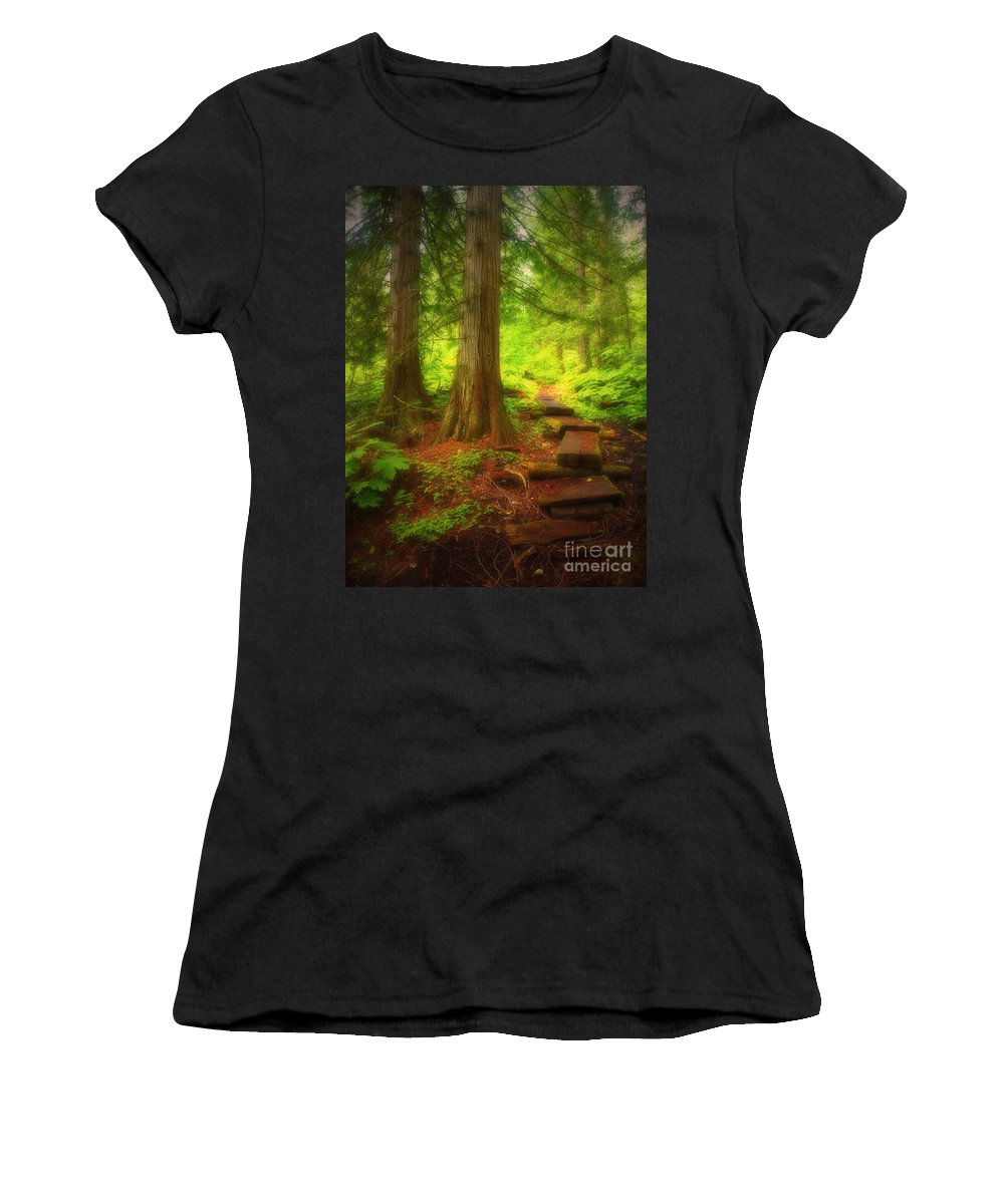 Forest Women's T-Shirt featuring the photograph The Path Through The Forest by Tara Turner