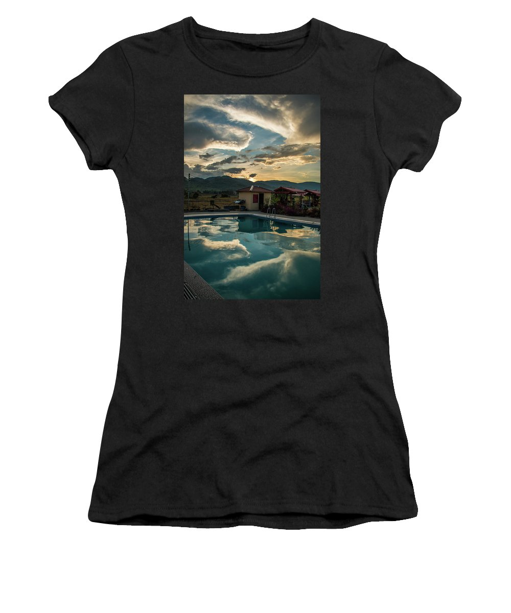 Pool Women's T-Shirt (Athletic Fit) featuring the photograph The Peaceful Still by Nathaniel H Broughton