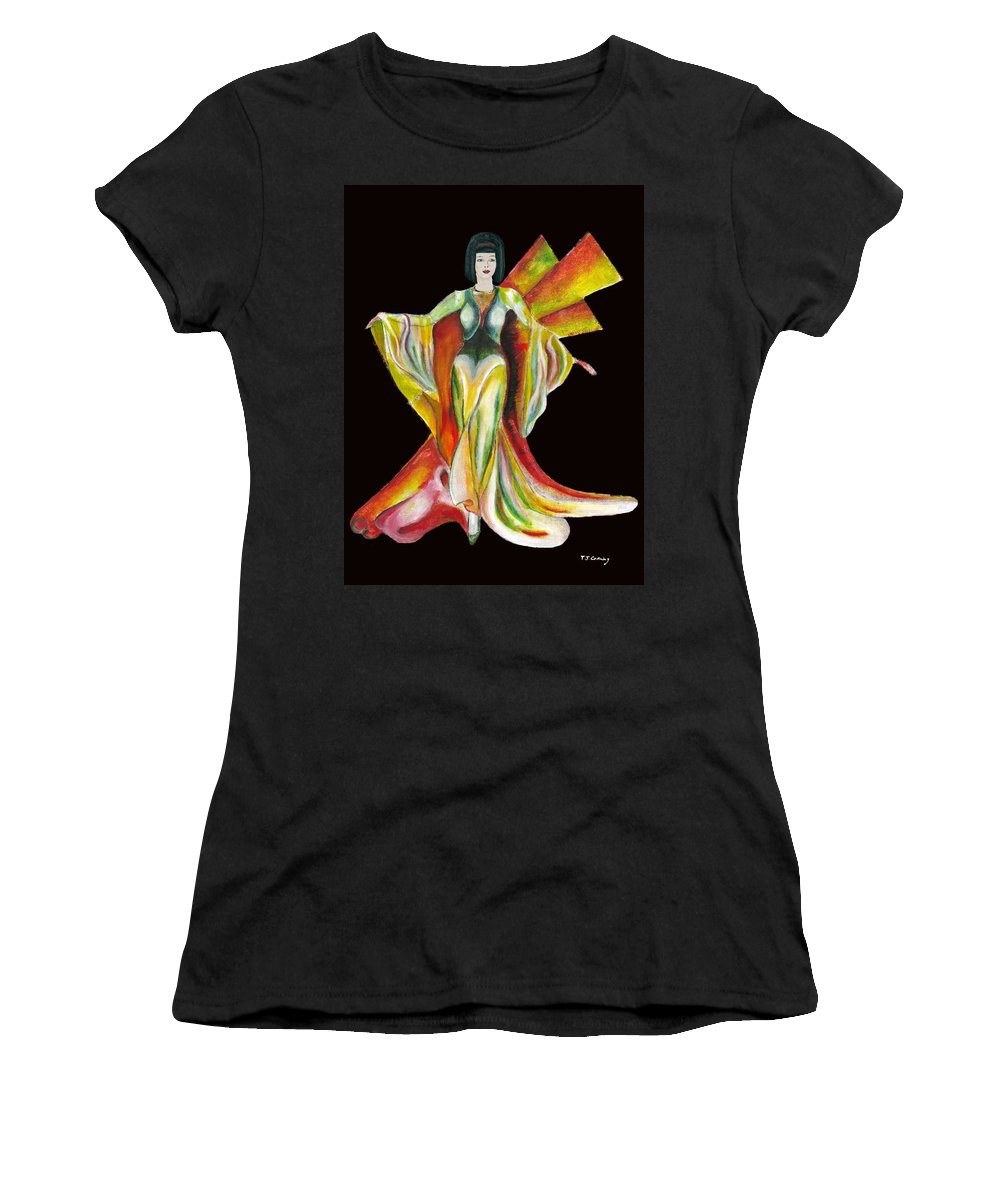 Dresses Women's T-Shirt (Athletic Fit) featuring the painting The Phoenix 2 by Tom Conway