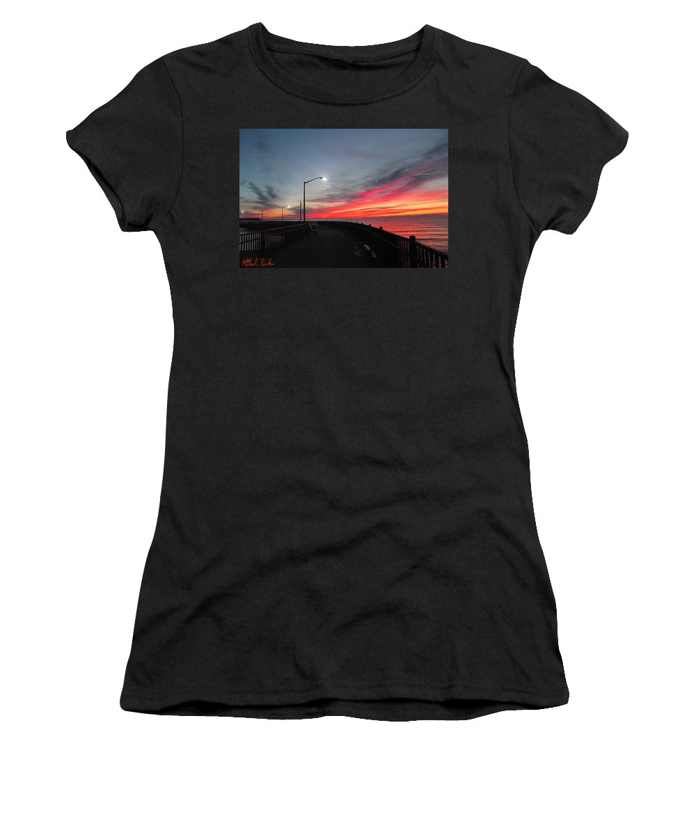 Lake Women's T-Shirt featuring the photograph The Pier by Michael Rucker