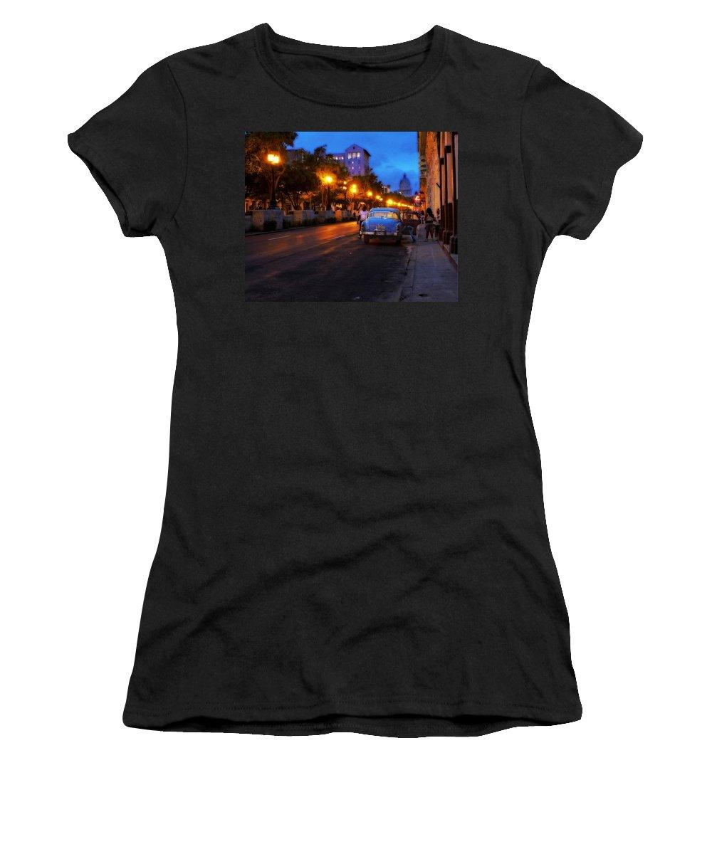 Havana Women's T-Shirt featuring the photograph The Prado, Havana Cuba by Cheryl Kurman