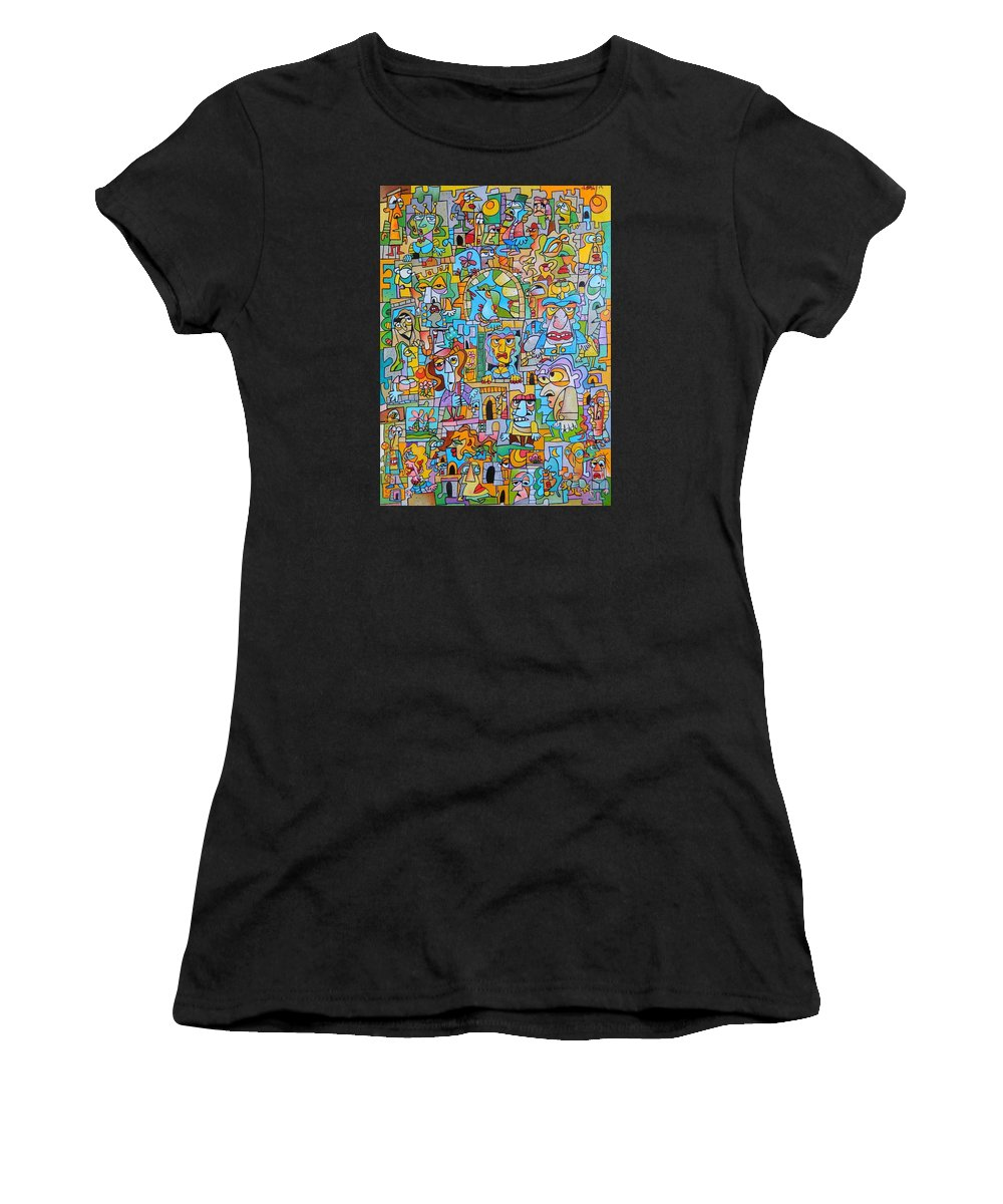 Women's T-Shirt (Athletic Fit) featuring the painting The Princess by Lorenzo Traverso