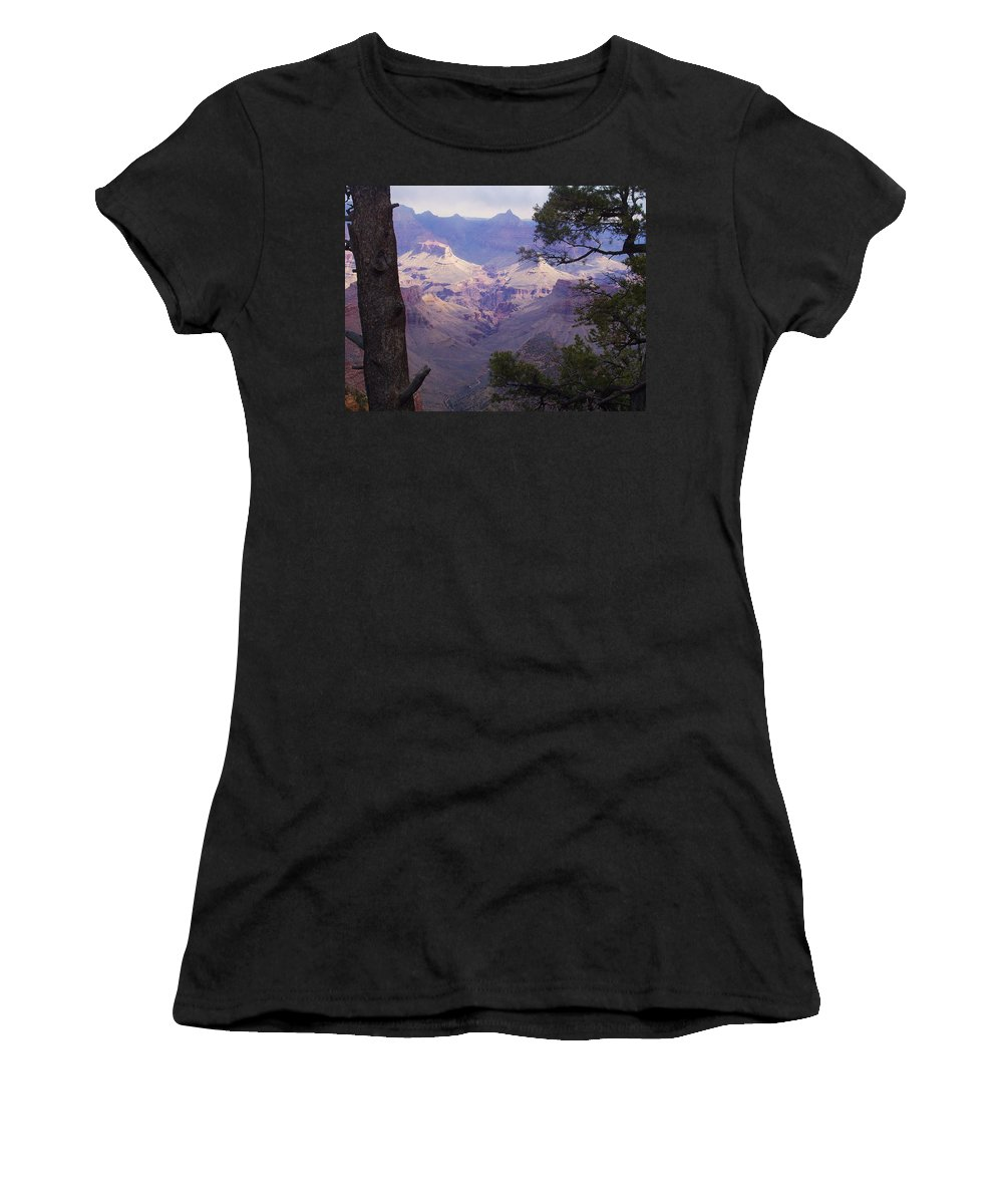 Grand Canyon Women's T-Shirt (Athletic Fit) featuring the photograph The Purple Grand by Marna Edwards Flavell