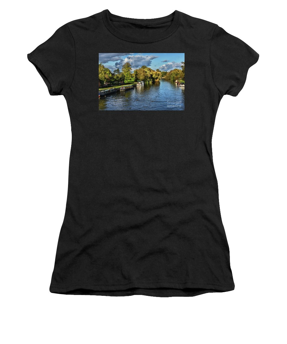 Wallingford Women's T-Shirt featuring the photograph The River Thames At Wallingford by Ian Lewis
