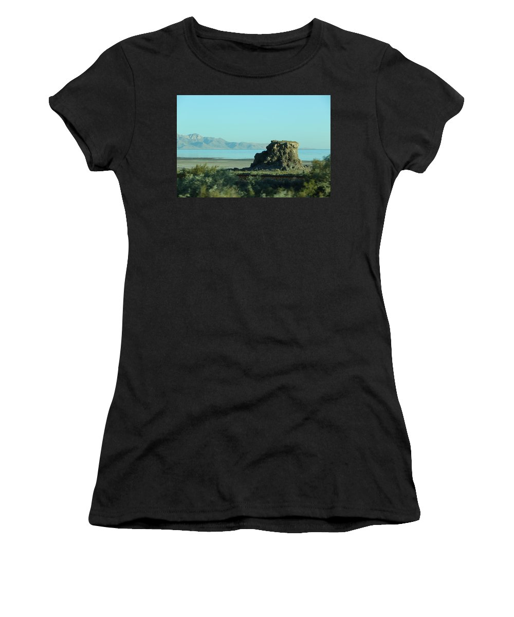 Women's T-Shirt (Athletic Fit) featuring the photograph The Rock by Kevin Cote
