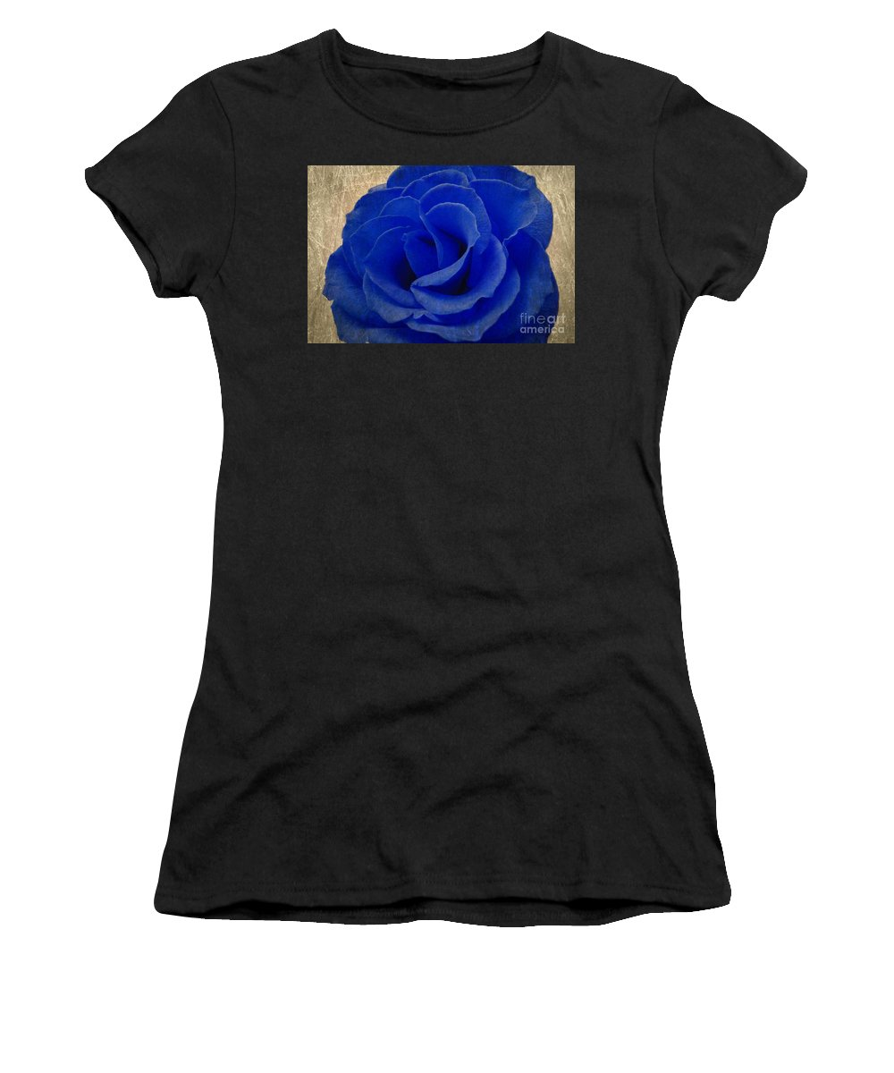 Blue Women's T-Shirt (Athletic Fit) featuring the photograph The Rose Of Sadness by Jeffrey Kolker