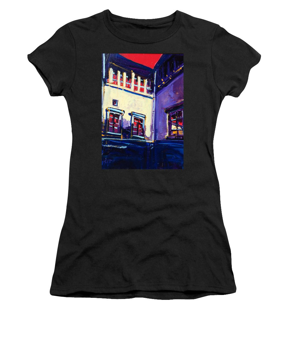 School Women's T-Shirt (Athletic Fit) featuring the painting The School by Kurt Hausmann