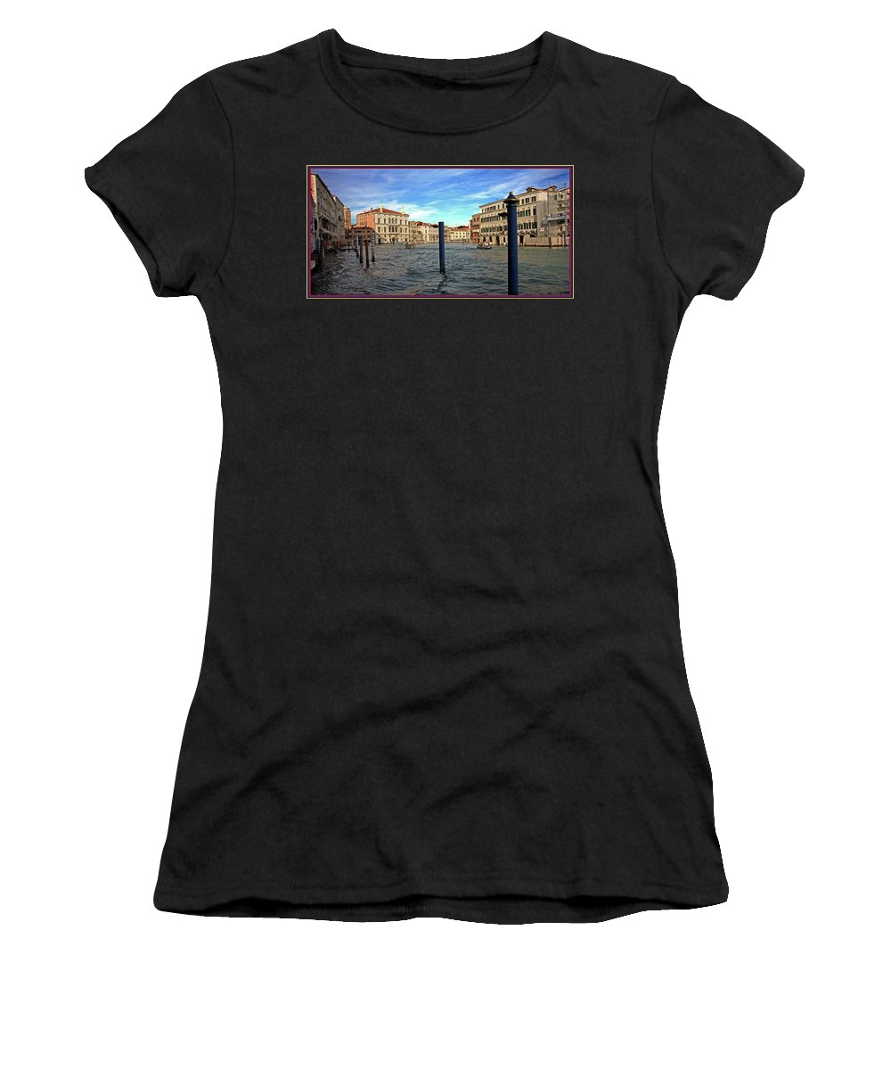 Venice Women's T-Shirt (Athletic Fit) featuring the photograph The Serene City by Guy Ciarcia