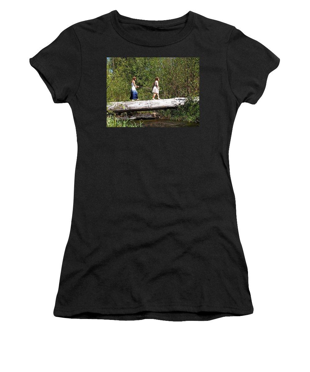 A Short Cut Women's T-Shirt featuring the photograph The Short Cut by Nancy Clendaniel