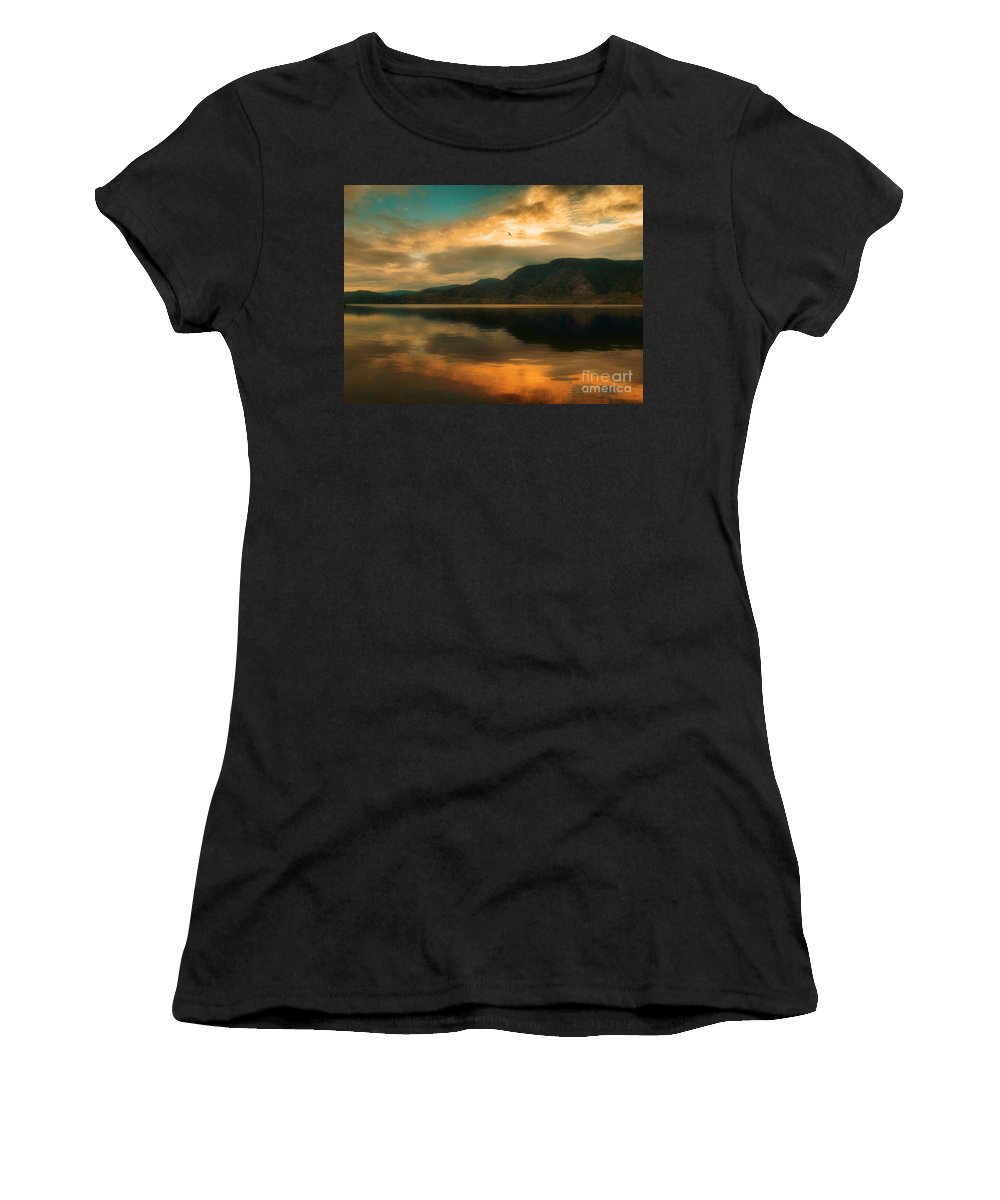 Skaha Women's T-Shirt (Athletic Fit) featuring the photograph The Skaha Sunrise by Tara Turner