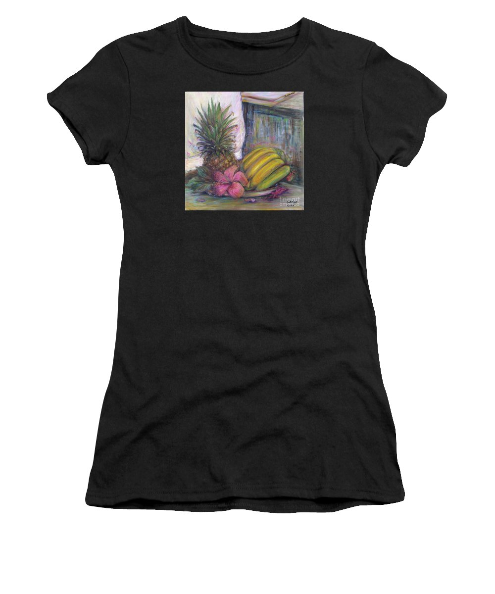 Still Life Women's T-Shirt featuring the painting The Smell Of South East Asia by Sukalya Chearanantana