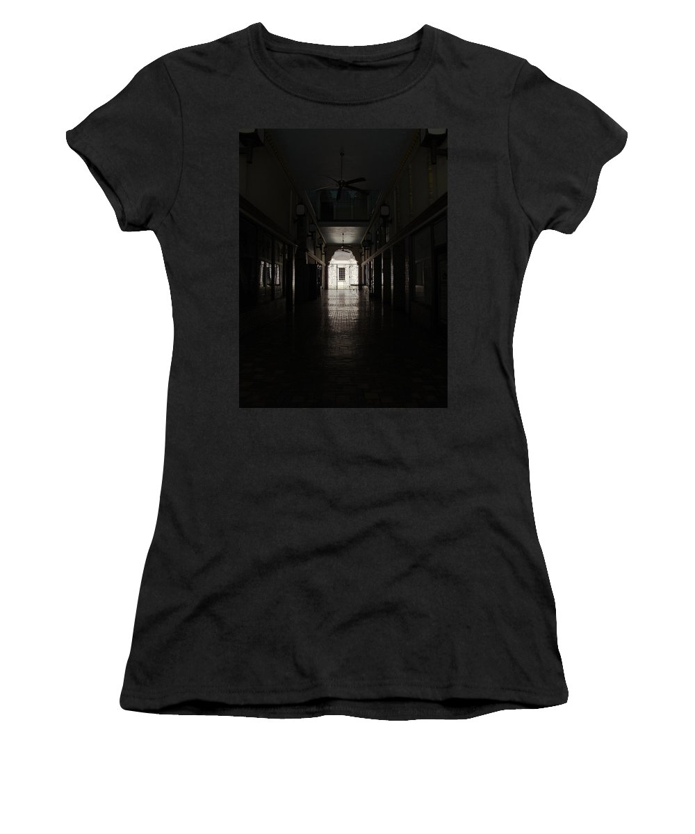 Color Women's T-Shirt (Athletic Fit) featuring the photograph The Snell Arcade by Phil Penne