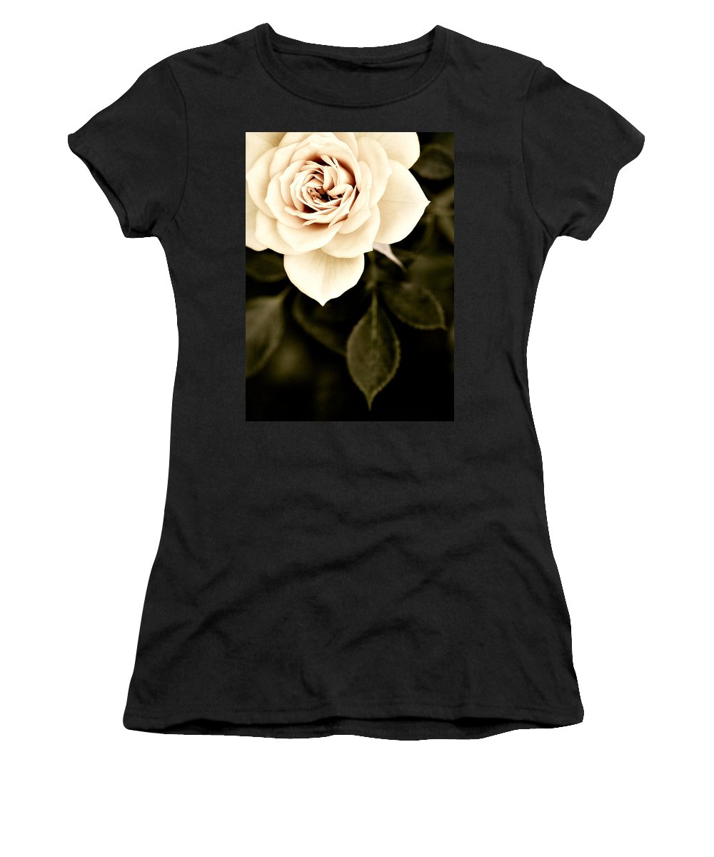 Rose Women's T-Shirt (Athletic Fit) featuring the photograph The Softest Rose by Marilyn Hunt