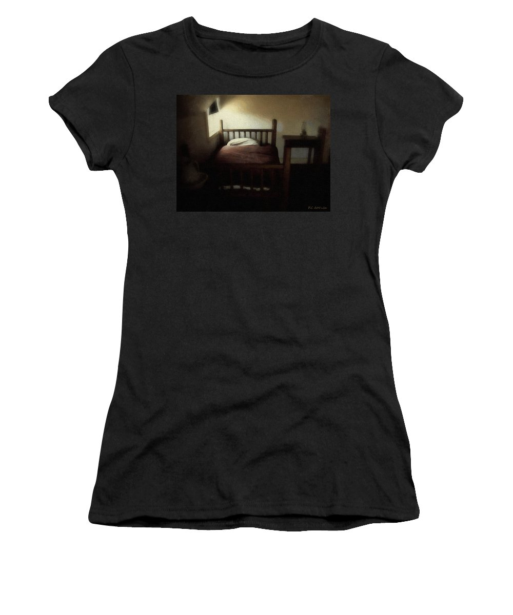 19th Century Women's T-Shirt (Athletic Fit) featuring the painting The Spare Room by RC DeWinter
