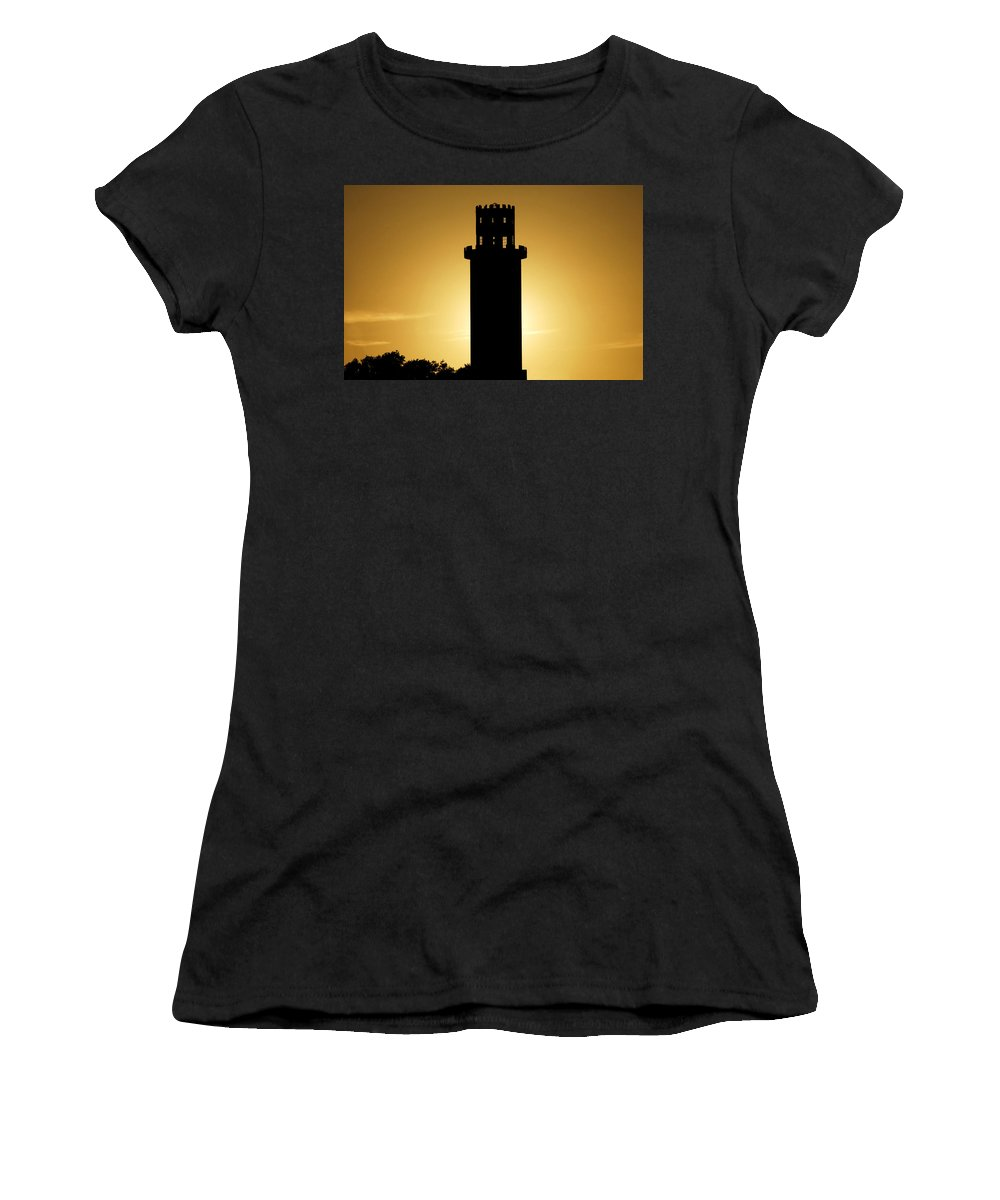 Sulphur Springs Women's T-Shirt (Athletic Fit) featuring the photograph The Sulphur Springs Tower by David Lee Thompson