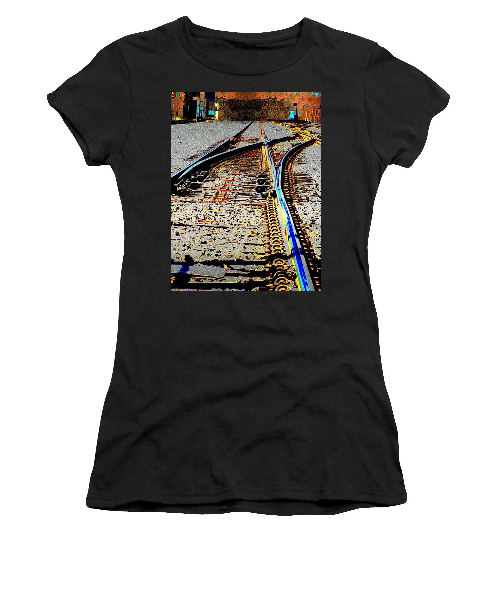 Train Women's T-Shirt (Athletic Fit) featuring the digital art The Switch by Tim Allen