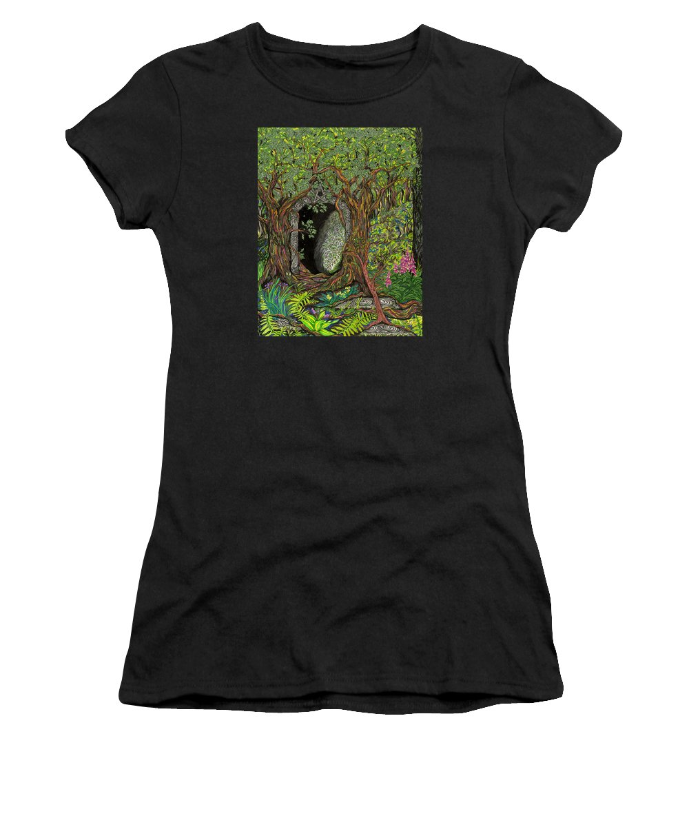 Ancient Women's T-Shirt featuring the drawing The Temple Of Math by FT McKinstry