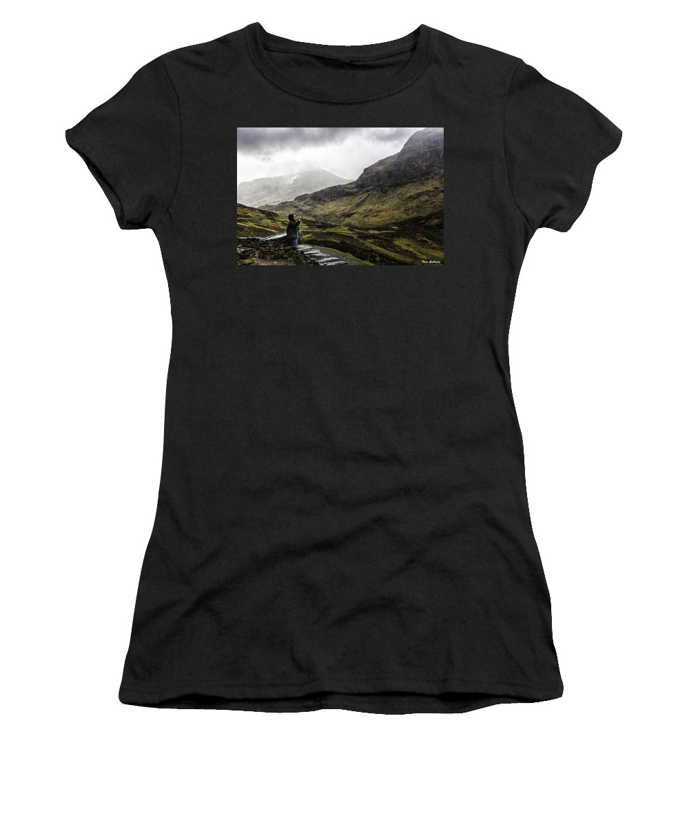 Glencoe Women's T-Shirt featuring the photograph The Three Sisters by Fran Gallogly
