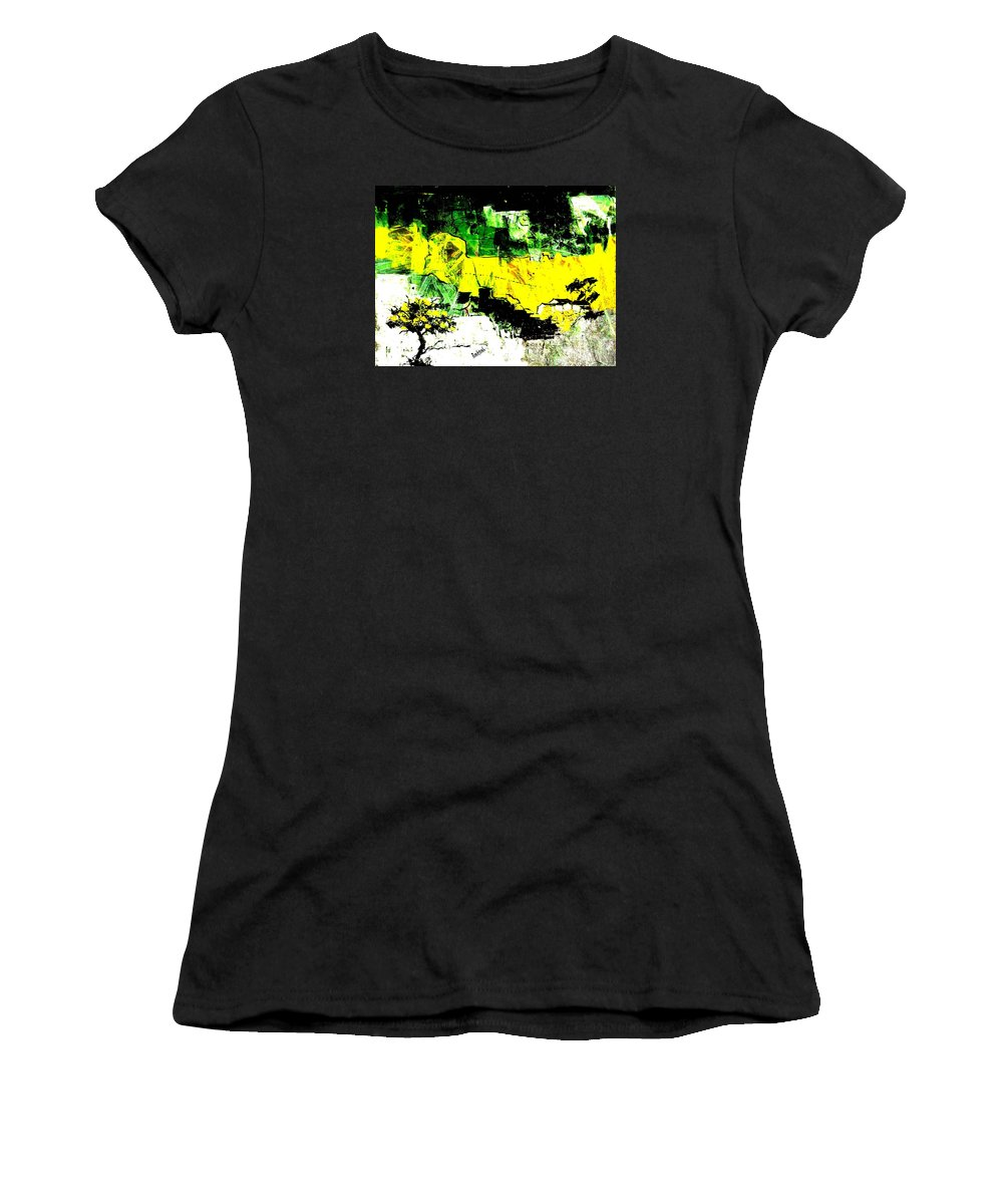 Abstract Women's T-Shirt (Athletic Fit) featuring the photograph The Tree Of Life. by Rahoul Chauhaan