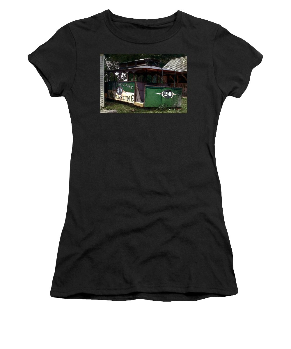 Trolley Women's T-Shirt (Athletic Fit) featuring the digital art The Trolley Out Back by RC DeWinter