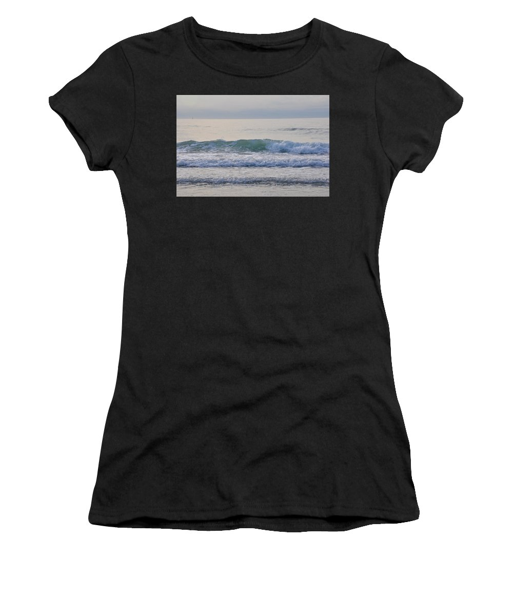 Wave Women's T-Shirt (Athletic Fit) featuring the photograph The Wave by Catherine Easton